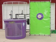 Purple and Green Dunking Booth Tank in McDonough, ga